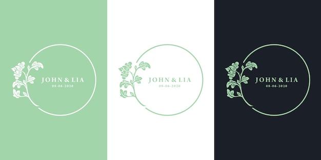 Абстрактный цветочный шаблон логотипа