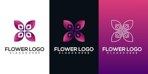 抽象的な花のロゴ