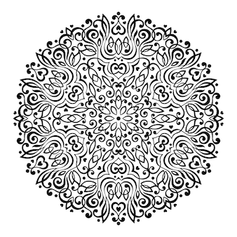 Abstract flower mandala. decorative ethnic element for design.