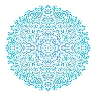 Абстрактная цветочная мандала. декоративный этнический элемент для дизайна.