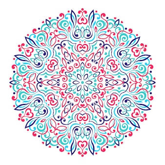 Abstract flower mandala.