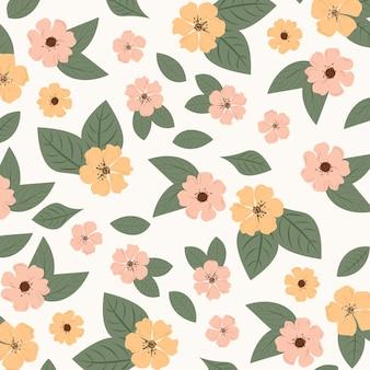 抽象的な花柄の背景。ベクトルイラスト。抽象的な背景。