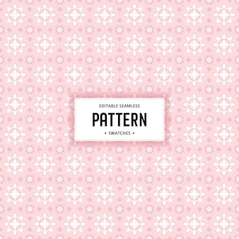 Abstract flower seamless editable pattern background