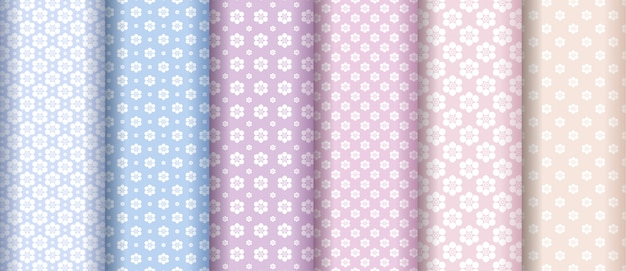 Abstract flower texture pattern collection