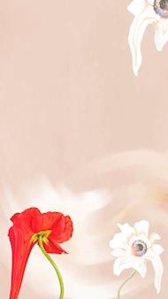 Абстрактные цветочные обои фон вектор