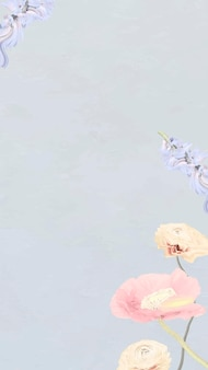 抽象的な花の壁紙の背景ベクトル