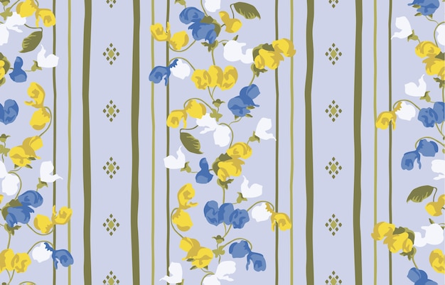 Abstract flower with stripe geometric texture background, design pattern print.