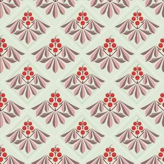 Abstract flowers leaf seamless pattern.