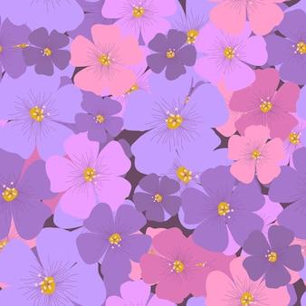 복고 스타일에 추상 꽃 완벽 한 패턴입니다. 아름다운 꽃무늬 벽지. 포장지, 섬유 인쇄용 디자인. 빈티지 식물 벡터 일러스트 레이 션.