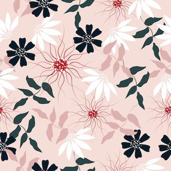 抽象的な花のシームレスなパターン