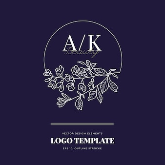 Abstract flowers signs or logo templates
