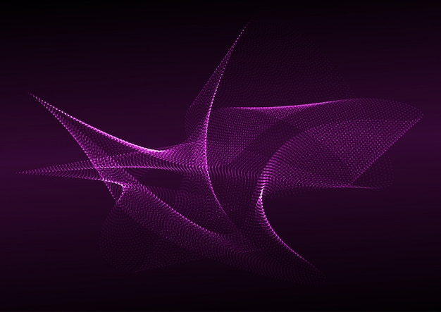 Abstract flowing dots background