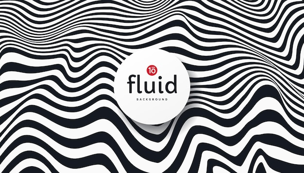 Abstract flowing fluid stripes lines black and white contrast background