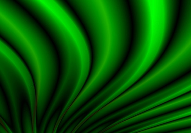 Abstract flowing green wave background