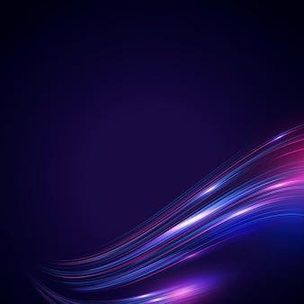 抽象的な流れるネオン波の背景
