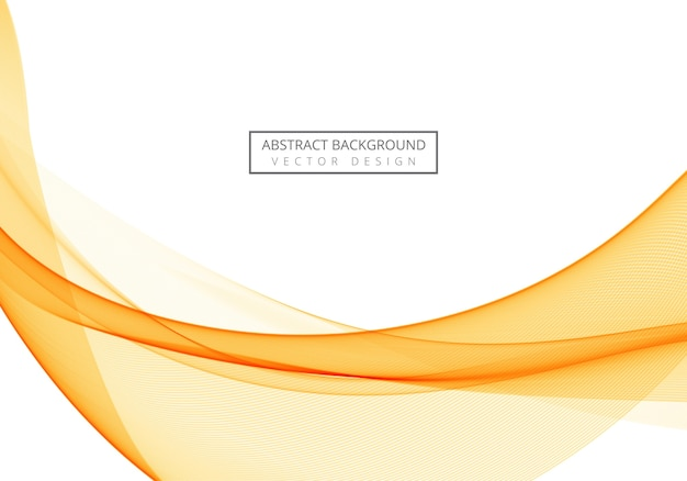 Abstract flowing orange wave