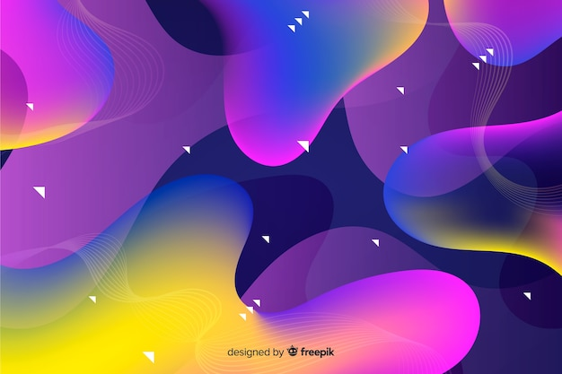 Abstract flowing shapes decorative background