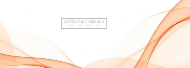 Abstract flowing wave banner on white background