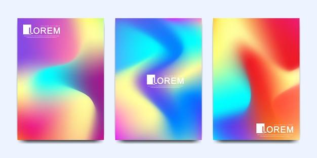 抽象的な流体3d形状流行の液体の色の図