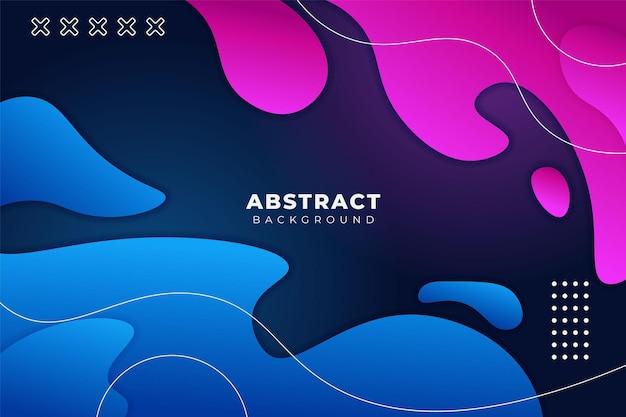 抽象的な流体の背景ダイナミックな波状の形ラインとブルーピンク