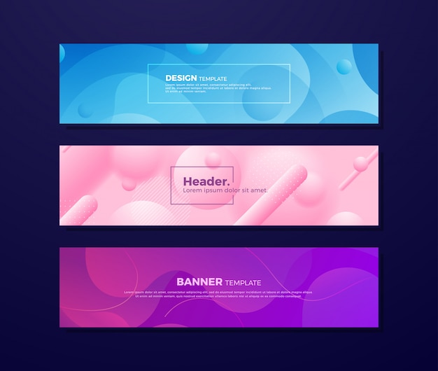 Abstract fluid backgrounds with different colors.