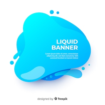 Abstract fluid banner template