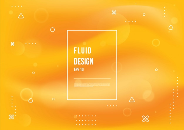 Abstract fluid color of neon color liquid gradient background with modern geometric dynamic