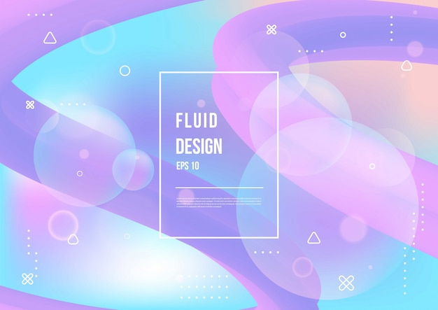 Abstract fluid color pattern of neon color liquid gradient background