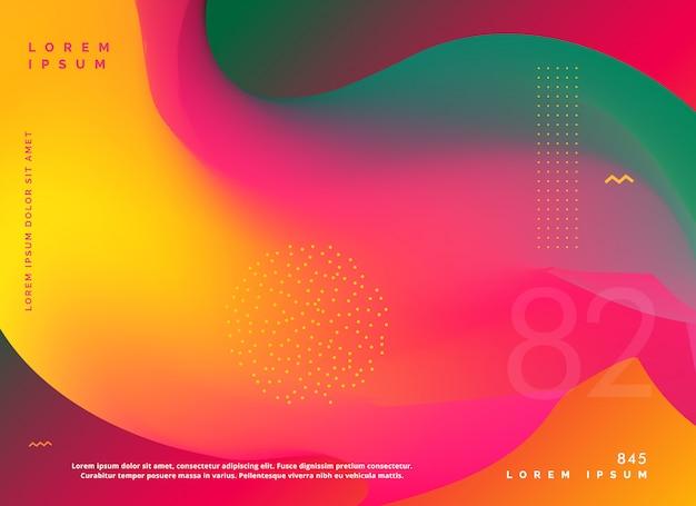 Sfondo di forma gradiente di colori fluidi astratti