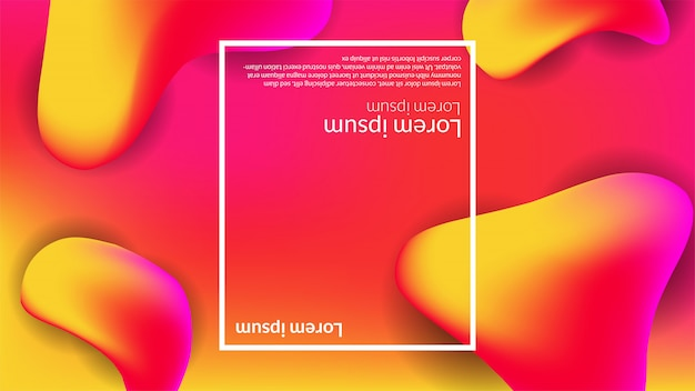 Abstract fluid gradient background banner business