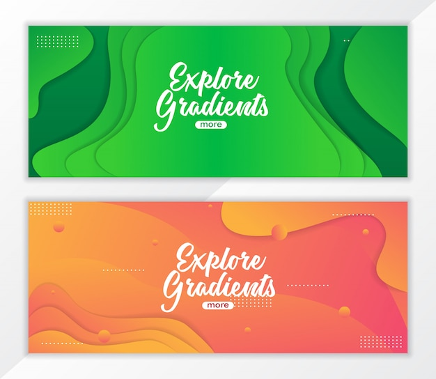 Abstract fluid gradient banner background