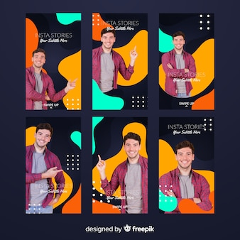 Abstract fluid instagram stories template