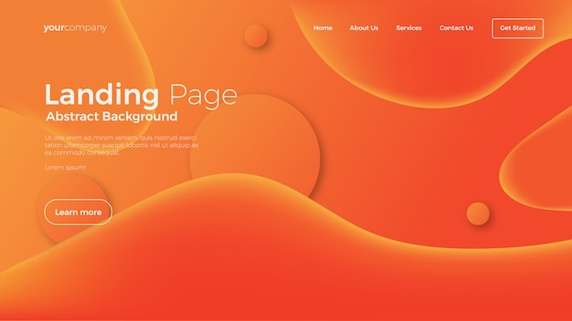 Abstract fluid landing page background
