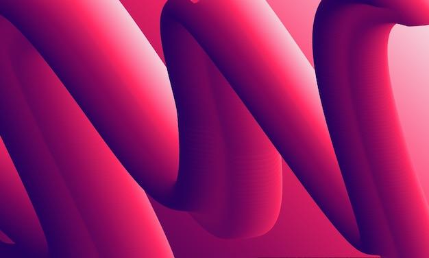 추상 유체 액체 스타일, 물결 모양 및 그라디언트 색상 배경