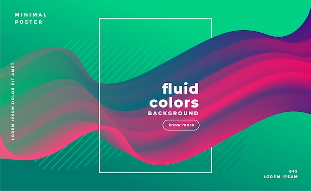 Abstract fluid loop banner