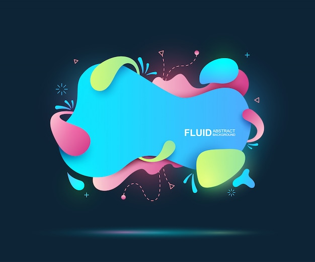 Abstract fluid and modern elements. dynamical colored forms and line.