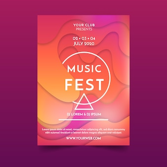 추상 유체 음악 포스터