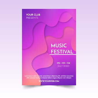 Abstract fluid music poster