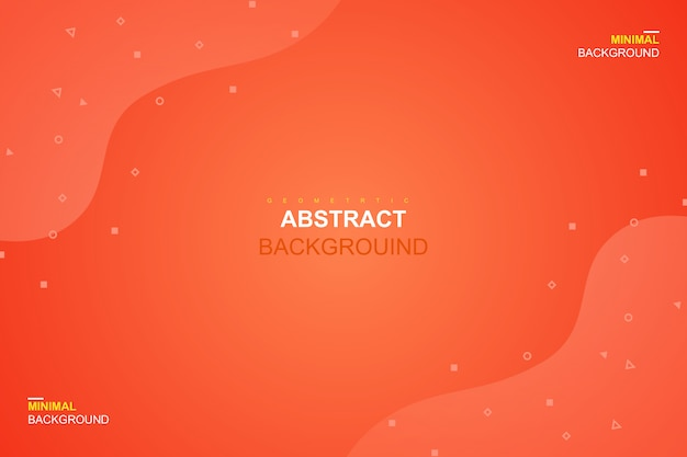 Abstract fluid orange color and geometric background