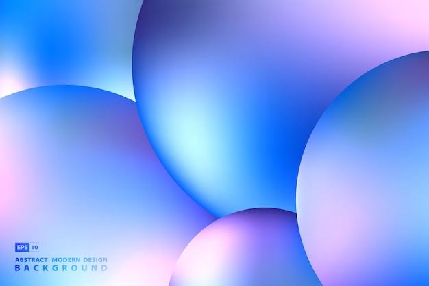 Абстрактный жидкий шар из сферы дизайна произведения искусства фиолетовый красочный фон.