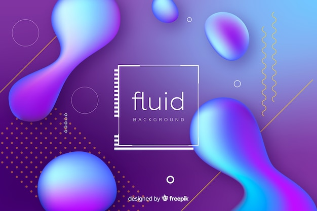 Abstract fluid shapes background