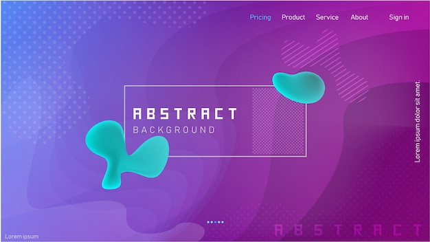 Abstract fluid and strip combination with wavy gradation background