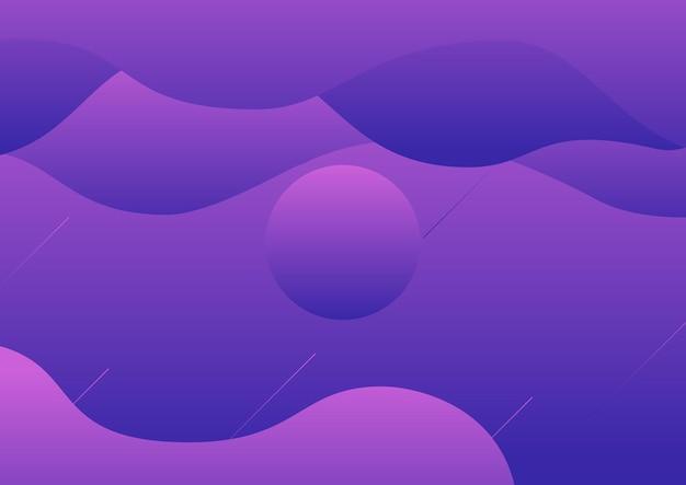 Abstract fluid violet, dark violet gradient background poster