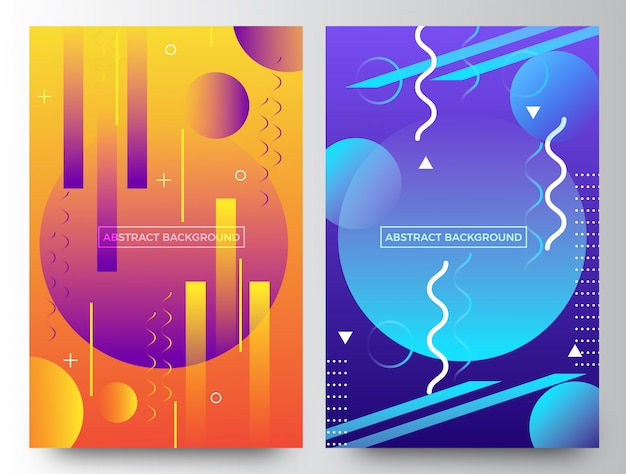 Abstract flyer background template design