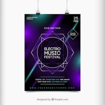 Concetto astratto di flyer per festival musicale