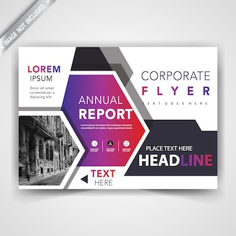 Abstract flyer front cover