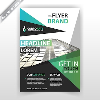 Abstract flyer mockup