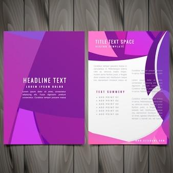 Abstract flyer in purple tones
