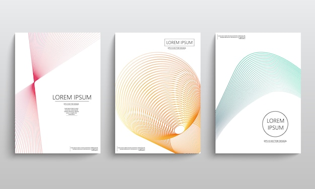 Abstract flyer set