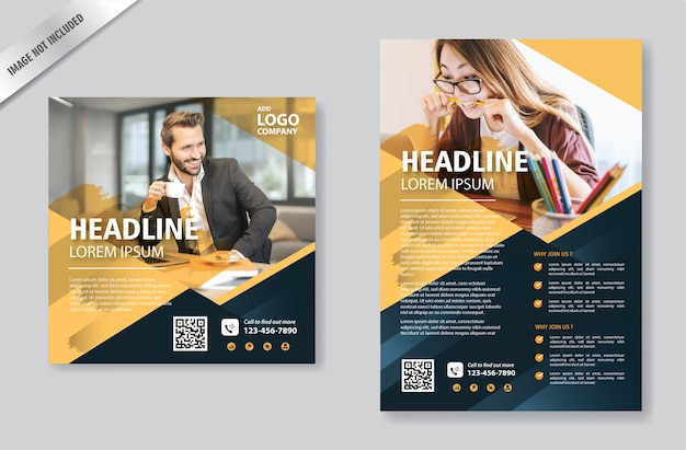 Abstract flyer template for annual report and cover book